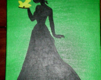 """8"""" x 10"""" Hand Painted silhouttes"""