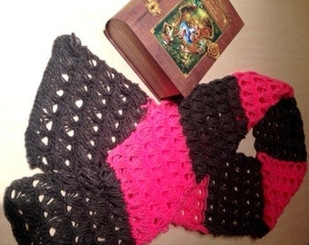 Pink and Brown Scarf