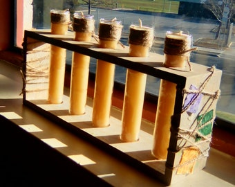 Beeswax and Hemp Candle Set