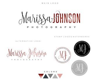 Logo design, Branding kit, Premade logo, Photography logo, Watermark, Business logo, Initials logo Watercolor logo, Stamp logo, blog logo 04