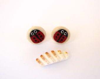 Sweet Little Ladybug Earrings