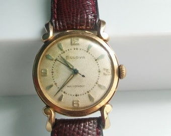 Vintage Bulova Senator mens watch