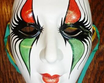 Large Hand Painted Ceramic Mardi Gras Mask
