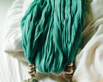 Vintage turquoise heart scarf