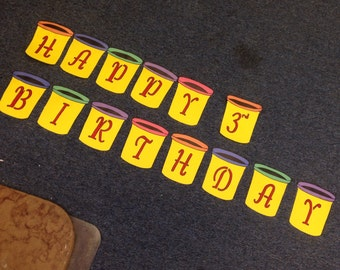 Play Doh Happy Birthday Banner
