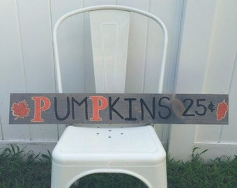 Wood Pumpkins sign - fall decor