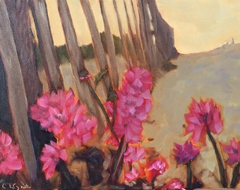 Beach Morning Oil Painting