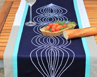 Summer Hand Embroidered Table Runner