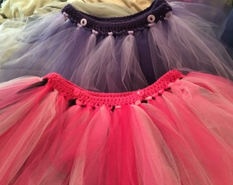 Adorable and ADJUSTABLE Tutu Skirt, Made to order with Love