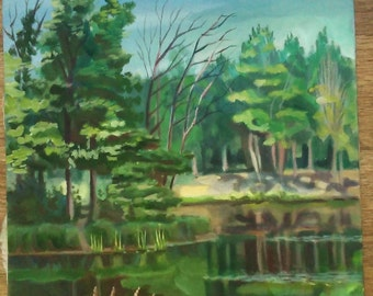 The pond in the woods