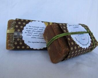 Eco chocolate and banana soap