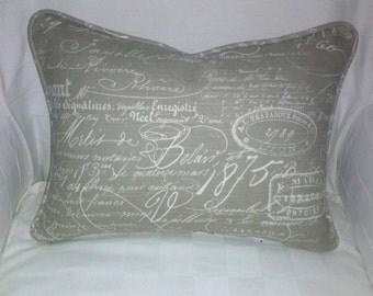 Linen Script Pillow