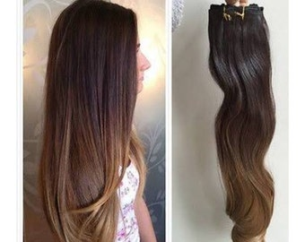 Custom colored human hair extensions