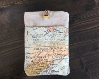 Vintage map eReader cover