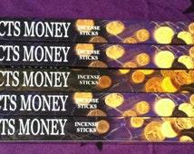 HEM Attracts Money Incense 5 Boxes 40 Incense Sticks