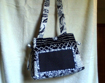 Black and White Print Handbag