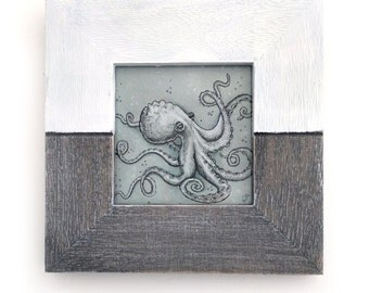 Octopus framed illustration