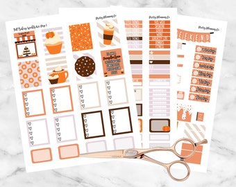 Fall Bakery Weekly Kit Printable Student Planner Stickers- Erin Condren Planner Stickers- Instant Download
