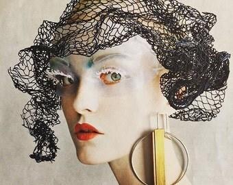001 Brass Copper & Silver Geometric Earrings