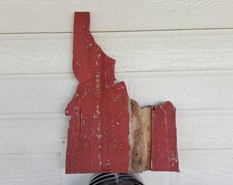 State of Idaho Barnwood sign