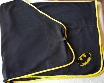 black batman fleece rug up to 4ft
