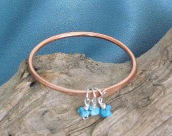 Turquoise Copper Bangle