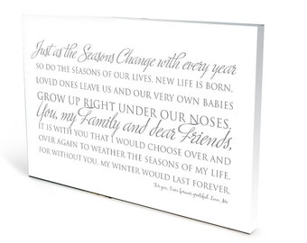 Seasons Change Poem Wall Art