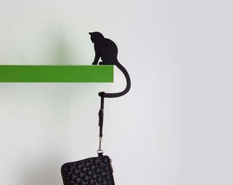 Hold it - balance hanger - Precious' Tail - Cat Hook, Cat key holder. hook rack