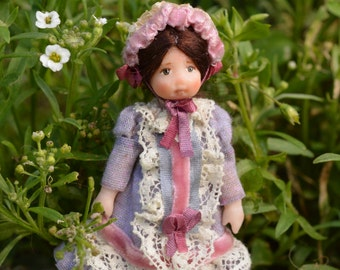 Miniature Doll,polymer clay,Dollhouse Miniatures,ooak baby,miniature clay baby, 12-я шкала,