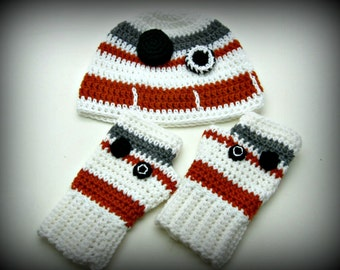 Crochet BB-8 Hat and Glove Set