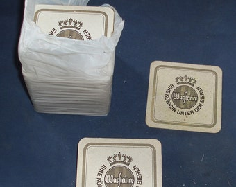 Remains of a beer mat multi-pack (approx. 70 mats) - Warsteiner, Text in German