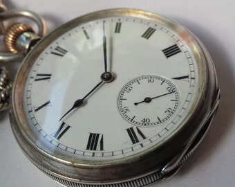 Vintage Waltham pocket watch solid silver great deal