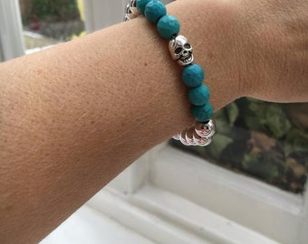 Turquoise,Mexican Skull, blue Turquoise