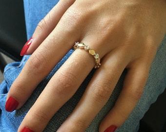 Gold Ring; Cubic Zirconia Ring, Stacking Ring, Lab DIamond RIng; Gold Filled Ring; Sparkly Ring; Diamond RIng; Band Ring; Ring Set; Gift