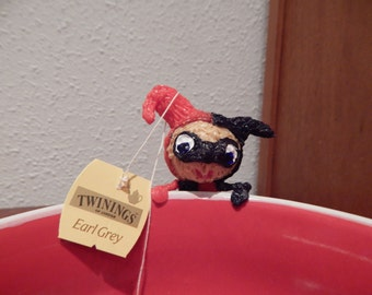 Harley Quinn tea holder (5cm tall) Made To Order (made with a 3d Pen)