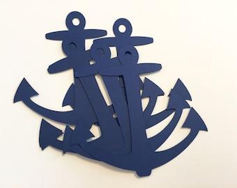 Anchor cutouts, Large Cardstock Anchors, various sizes, cardstock anchors, scrapbooking anchors, nautical cutouts