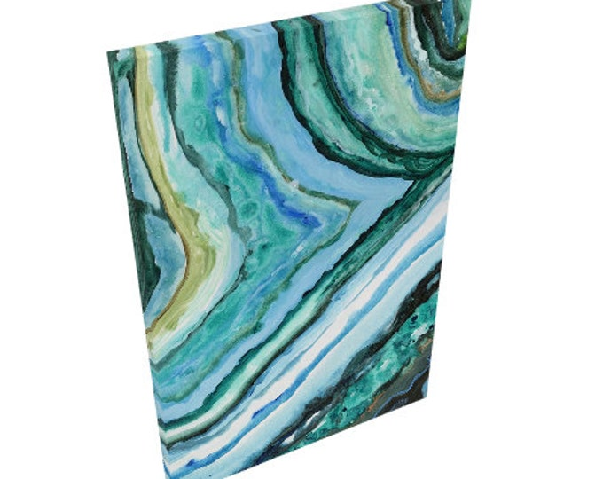20x30 Canvas Print Agate Slice Painting on Canvas Made in USA Crystal Painting by The Renegade Mama