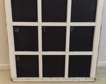 Window chalkboard calendar