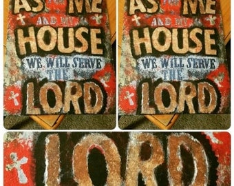 "Painting Art ""As for me and my house we will serve the LORD"""