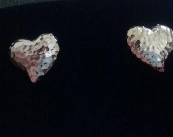 Beautiful gold pressed medal earrings