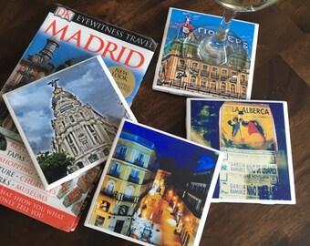 Spain/Ceramic Tile Coasters/Decorative Tile/Set of 4 Coasters