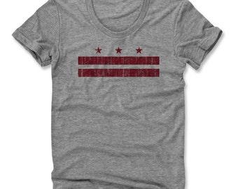Washington D.C. Flag R Women's Scoop Neck T-shirt (am)