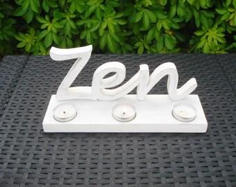 Candle holder wooden Zen