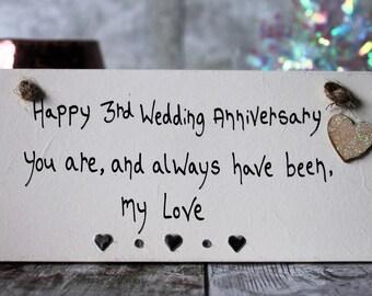 3rd Anniversary Gift-3rd anniversary gift ideas-Personalized 3rd wedding anniversary-third wedding anniversary -3rd wedding anniversary gift