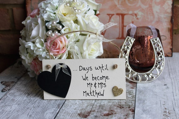 Wedding Countdown Engagement Gifts for Couple by MadeAt94 on Etsy