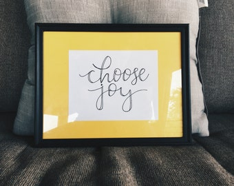 Choose Joy typography