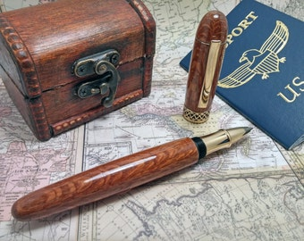 Hand Made Rollerball Pen. Custom Apollo Infinity!!! This custom rollerball is made with Leopardwood!