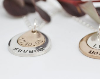 Personalised Double Teardrop Necklace