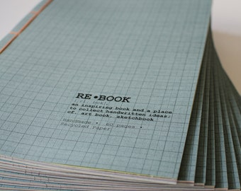 REBOOK approx. DinA4. recycled notebook, sketchbook
