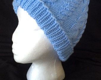 Periwinkle Cable Hat